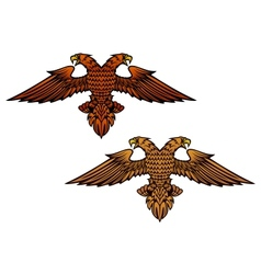 Double headed eagle vector image vector image