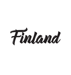 Finland text design calligraphy vector