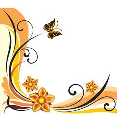 floral summer frame vector image