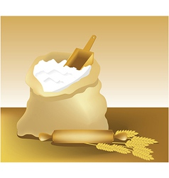 Flour vector image vector image