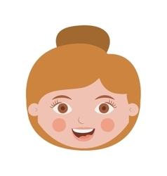 Front face woman with collected hair vector