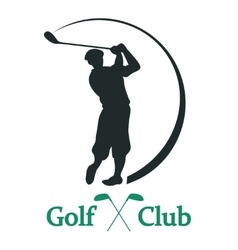 Golf club sign - vector image vector image