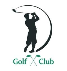 Golf club sign - vector
