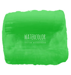 Green watercolor texture background vector