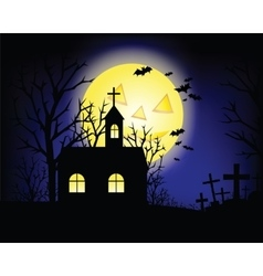 Halloween grunge and hunting house vector