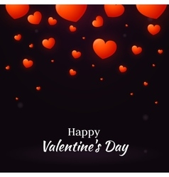 Happy Valentine Day with hearts vector image vector image