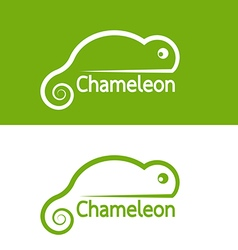 Image of chameleon design on white background and vector