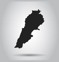 lebanon map black icon on white background vector image