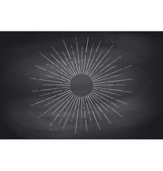 Linear drawing of light rays sunburst vector image vector image