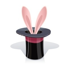Magic cap and rabbits ear vector image vector image