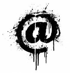 mail grunge splatter design element vector image