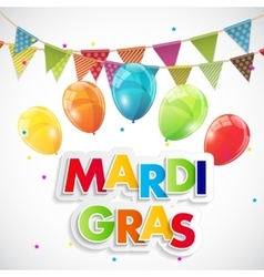 Mardi Gras Party Holiday Poster Background vector image
