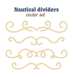 Nautical ropes dividers set decorative vector
