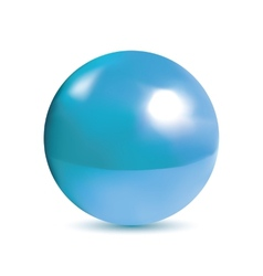 Photorealistic shiny blue orb vector image