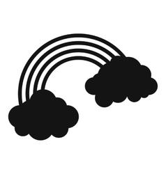 Rainbow icon simple style vector