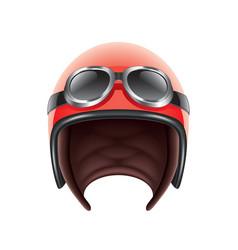 retro aviator helmet isolated vector image vector image