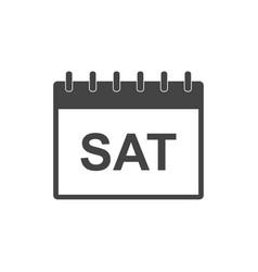 Saturday calendar page pictogram icon simple flat vector