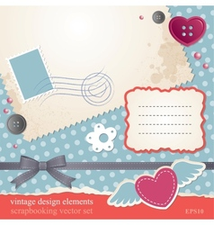 Scrap-booking set vector