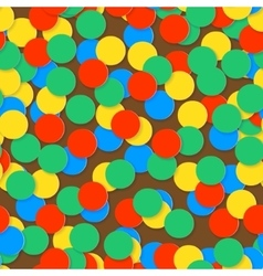 Seamless pattern with colorful confetti vector image