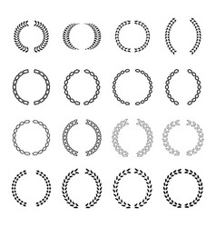 several style of laurel wreath icons set vector image vector image