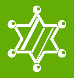 sheriff star icon green vector image