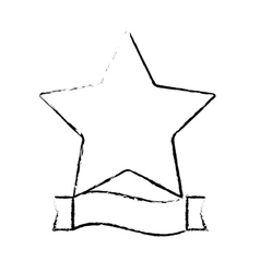 Star and ribbon banner icon image vector