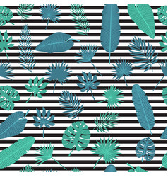 tropical leaves seamless pattern exotic floral vector image vector image