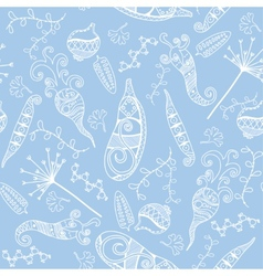 Vegetables - seamless pattern background vector image vector image
