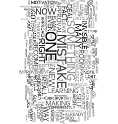 you made a mistake way to go text word cloud vector image vector image
