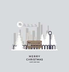 a christmas of cityscape vector image