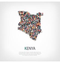 People map country kenya vector