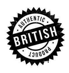 Authentic british product stamp vector