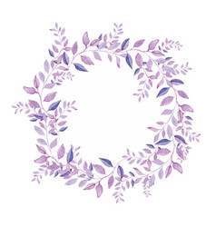Floral wreath isolated on white background vector
