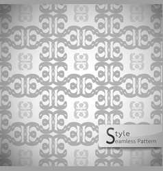 flower monochrome lattice vintage geometric vector image