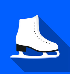 skates icon flate single sport icon from the big vector image