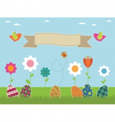Easter flower garden vector
