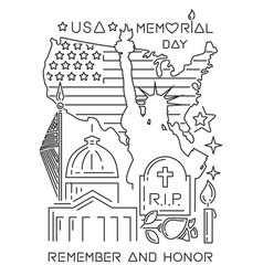 Memorial day design concept vector