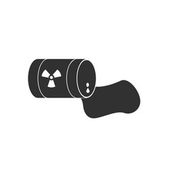 black icon on white background waste pollution of vector image