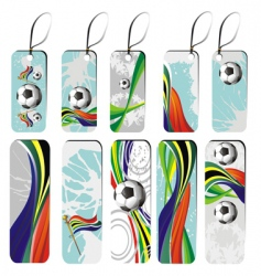 Set of football tags vector