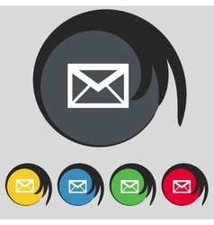 Mail icon envelope symbol message sign navigation vector