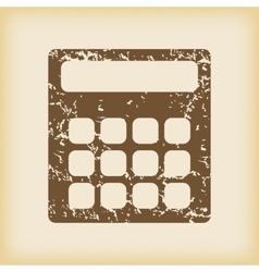 Grungy calculator icon vector