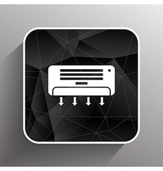 Air conditioner temperature icon celsius cold vector