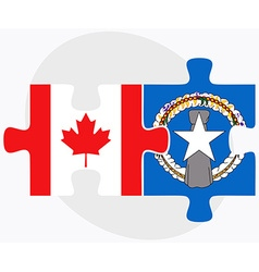 Canada and northern mariana islands flags vector