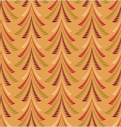 Seamless christmas pattern firs trees on orange vector