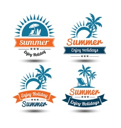 Summer label 3 vector
