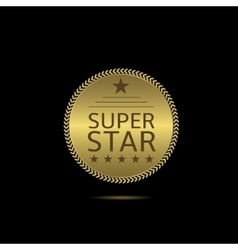 Super star label vector