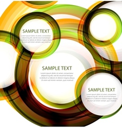 Abstract circles banner with sample text vector