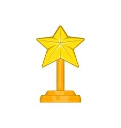 Award star icon cartoon style vector