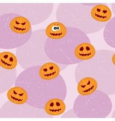 Pumpkins Seamless Pattern vector image