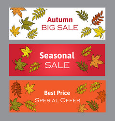 Autumn fall sale poster vector